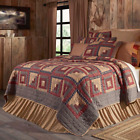 MILLSBORO QUILT SET - choose size & accessories- Log Cabin Patchwork VHC Brands image