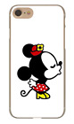 Couple Matching Mickey Minnie Mouse Kissing Hard Cover Case For iPhone Huawei