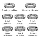 Weber State Wildcats Hunting and Fishing Rings | Stainless Steel 8mm Wide
