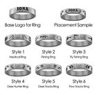 Iona College Gaels Hunting and Fishing Ring | Stainless Steel 8mm Wide