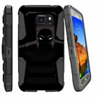 For Samsung Galaxy S7 EDGE G935 Dual Layer Kickstand and Holster Combo Case