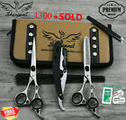 """Professional Barber Hairdressing Scissors & Thinning 6.5"""" Set In JAPANESE STEEL5"""
