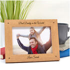 BEST DADDY Personalised Fathers Day Gifts Daddy Dad Grandad ENGRAVED Photo Frame