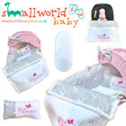 PERSONALISED 5 PIECE MOSES BASKET COVER BEDDING DRESSING BLANKET BAMBI GIRLS