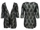 Womens Size 16 - 26 Black Lace Jacket Versatille Cardi Black Dye Runs Needs Wash