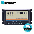Renogy 10A 20A PWM Solar Charge Controller 12V 24V Dual Duo Battery Regulator for sale  Ontario