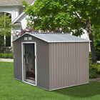 Outdoor Metal Storage Shed Tool Utility House Garden Buiding Kit Steel 3 Sizes