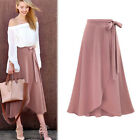Women Long Chiffon Chiffon Pleated Retro Long Maxi Dress Elastic Waist Skirt
