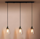 Chandelier 3 Bulb Glass Pendant Light Industrial Modern Vintage Loft Kitchen