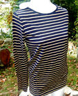NWT! Authentic PETIT BATEAU Navy/Gold, Cotton Blend, Long Sleeve Shirt