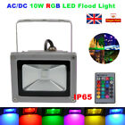 10W RGB LED Flood Light Color Changing Outdoor Landscape Garden Lamp w/ Remote