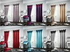 MODERN LA MODA CURTAIN DOOR PANEL RING TOP FULLY LINED CURTAIN