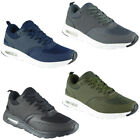 Mens Running Trainers Fitness Gym Jogging Sports Comfy Sole Lace Up Shoes Size