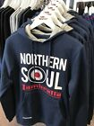 Lambretta Northern Soul Hooded Sweatshirt Jumper Navy Blue Retro Mod S-XXL