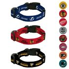 NHL Team Color Polyester Pet Collar (S-L) by Rico Industries $3.89 USD on eBay