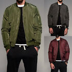 S-3XL ZANZEA Men Classic Zip Up Long Sleeve Bomber Jacket Motorcycle Coat Tops