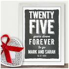 25th Wedding Anniversary Gifts Silver Wedding Anniversary Chalkboard Style Gifts