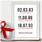 Personalised 25th Silver Wedding Anniversary Gifts Memorable Dates Couples Gifts