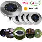 4pcs 12 LED Solar Buried Light Waterproof Underground Lamp Path Way Garden Decor