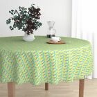 Round Tablecloth Fashion Style Japanese African Ocean Ottomanbrim Cotton Sateen