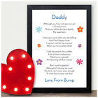 Fathers Day Gifts from Bump Personalised Dad Daddy To Be Gifts from Bump Present