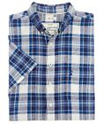 Joules Mens Wilson Shirt Short Sleeved  Ink Blue or Pink - Size S