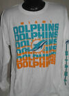 NFL Miami Dolphins Football Long Sleeve White Logo T Shirt  Mens Sizes Nwt