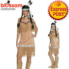 CA699 Indian Lady Pocahontas Native American Wild West Fancy Dress Party Costume