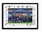 CHELSEA SIGNED PRINT PHOTO POSTER SQUAD 2017 2018 TEAM FA CUP WINNERS HAZARD