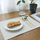 Double Layer Cotton Linen Embroidered Placemat Table Mat Kitchen Napkin Pads