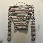 Women's Urba Outfitters Rainbow Striped Knitted Top Size S
