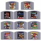 For Nintendo 64 N64 Mario,Smash Bros,Zelda Video Game Cartridge Console US Card