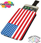USA AMERICA UNITED STATES STRIPE STARS FLAG - Universal Leather Phone Case Cover
