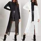 Fashion Womens Long Sleeve Open Kimono Cardigan Casual Loose Jacket Coat Plus