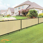 Custom 5 Feet Tall Beige Privacy Fence Screen Cover Mesh Garden Yard Commercial