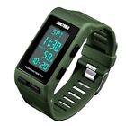 SKMEI Men Women Sports Digital Wrist Watch LED Waterproof 3D Pedometer Calories