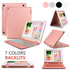 360 Rotating Backlit Bluetooth Keyboard Cover Slim Book Case For iPad 9.7 Inch