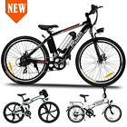 "Ancheer Folding Electric Bike City Mountain Cycling E-Bike 36V 250W 26"" Bicycle@"