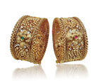 Gold Plated Wedding Bangle Bracelet Kada Indian Fashion Ethnic Jewelry