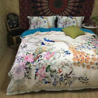 pure cotton bedding set queen size king size peacock print duvet cover bed sheet