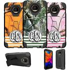 For Motorola Moto Z Force XT1650 Case Customized With Your Initials - Camo