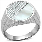 Half Conch Top Micro-Pave Setting 925 Sterling Silver Mens Best HQ Ring