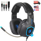 Sades Stereo Gaming Headsets Headphones With Mic for PS4 NEW Xbox one Xbox 360