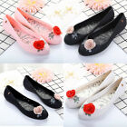 Women Melissa Casual Shoes Sandals Roses Flowers Flats Beach Slip On Loafer Size