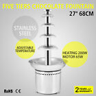 5 Tiers Commercial Stainless Steel Hot New Luxury Chocolate Fondue Fountain New