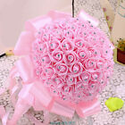 Wedding Bouquet Bridal Bridesmaid Aartificial Rose Flower Lace HandMade Decor ZR