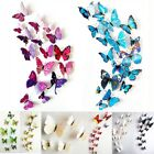 12pcs 3D Butterfly wall stickers home decor Sticker on the Art Wall decal GB09