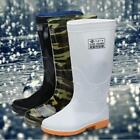 Men's Outdoor garden Rain Boots Elastic Rubber Fishing Waterproof Mid Calf Shoes