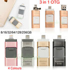 USB i-Flash Drive Storage Memory Stick 3 in 1 OTG Device For iPhone & Android PC