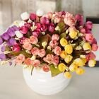 15 Silk Peony Artificial Flowers Peony Wedding Bouquet Home Party Decor Uk